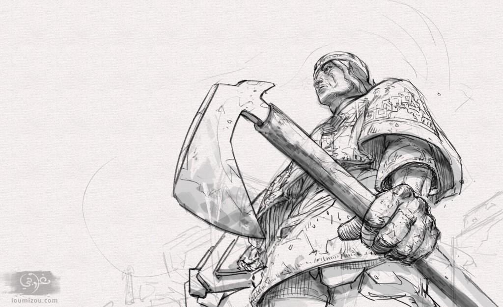 forshortened soldier